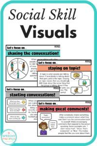 Social Skills Visuals! from Speech Musings. Pinned by SOS Inc. Resources. Follow all our boards at pinterest.com/sostherapy/ for therapy resources.