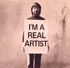 """I am a real Artist,"" 1969, Keith Arnatt"