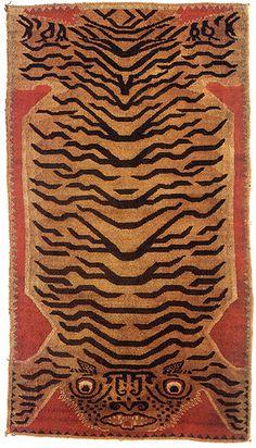 Tibetan tiger rug by giovanni garcia-fenech