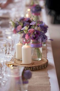 Rustic Wedding Centerpieces Fancy Ideas ❤️ See more: http://www.weddingforward.com/rustic-wedding-centerpieces/ #weddings