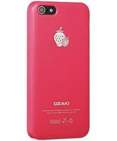 Чехол  для iPhone5, Ozaki O!coat Fruit Strawberry розовый (OC537ST) купить в интернет-магазине BeautyApple.ru.