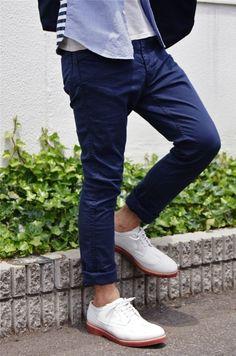 # fashion for men # men's style # men's fashion # men's wear # mode homme White Buck Shoes, White Dress Shoes, Looks Style, Style Me, Classic Style, Look Fashion, Mens Fashion, Fashion Jobs, Fashion Photo