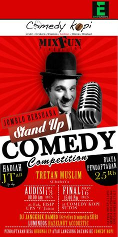 "Stand Up Comedy Competition ""Jomblo Bersuara"" Tretan Muslim Audisi : Jumat, 13 Desember 2013 At Fak. FISIP UPN Veteran Jatim Final : Senin, 16 Desember 2013 At Comedy Kopi Sutos  http://eventsurabaya.net/stand-up-comedy-competition-jomblo-bersuara/"