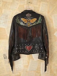 Vintage Melanie Bendavid Hand-Painted Leather Jacket. http://www.freepeople.com/vintage-loves-brushed-beauties/vintage-melanie-bendavid-hand-painted-leather-jacket-24646879/