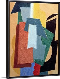 """""""Summer, 1917 18 (oil on canvas)"""" by Lyubov Sergeevna Popova featured as a Black Floating Frame Canvas Print ranging in sizes from 18"""" x 24"""" to 45"""" x 60"""". Available at GreatBIGCanvas.com."""