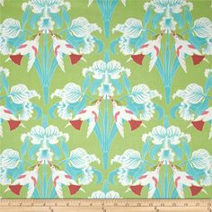 Tanya Whelan Chloe Birds Green from @fabricdotcom  Designed by Tanya Whelan for Free Spirit, this cotton print is perfect for quilting, apparel and home decor accents. Colors include green, powder blue, shades of pink and white.