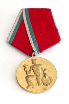Russian Military Medal with Red Ribbon by borgovin on Etsy, $20.00