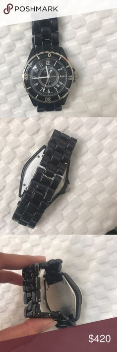 Chanel watch Chanel watch j12 I needs new batteries. This watch is used and has some miner scuffs and scratches see pictures CHANEL Jewelry