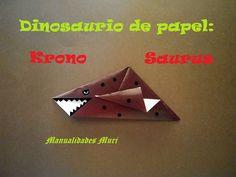 Origami - Papiroflexia. Dinosaurio de papel: Krono saurus
