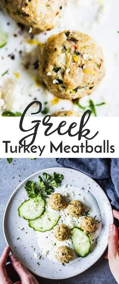 Greek Turkey Meatballs are juicy homemade turkey meatballs filled with zucchini, feta cheese, sun-dried tomatoes and lemon. They're delicious as a healthy meal with a salad, or turn them into an easy sandwich lunch by stuffing into pita breads. Put them o