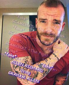 ALLEN RICHARD, FAKE .... USING THE STOLEN PICTURES OF GRAHAM ALLEN, DAILY RANTS GUY https://www.facebook.com/thefightbackstartshere/posts/411002655937344