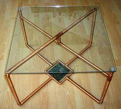 Fabriqués à la main en cuivre massif table par CoppersmithDesign