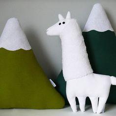 Serge the white lama plush  Free shipping  by LaPetiteEcharlotte