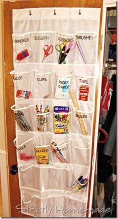 Organized School Supplies 2