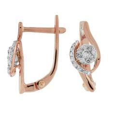 Ladies Diamond Earring in 14K Rose Gold (TCW   0.33).