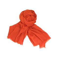 """Plant Cashmere"" 100% Fine Cotton Shawl - Coral - Zink Everyday"