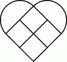 схема квилта в форме сердца