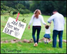 This is a really cute second baby announcement! And baby makes 4 Family Maternity Photos, Maternity Poses, Maternity Pictures, Pregnancy Photos, Maternity Photography, Family Photos, Second Pregnancy, Pregnancy Humor, Family Photography