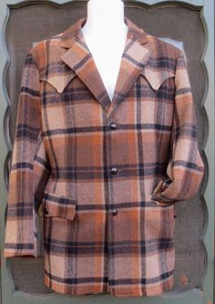 Vintage 1950's Paid Field & Stream Western Jacket -Cowboy Ranchwear from Montana sz 40 by delilahsdeluxe, $57.50