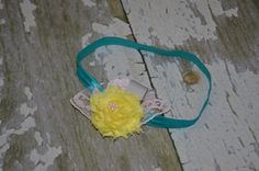 Flower and lace teal/yellow/pink/grey by MissKsClosetOnEtsy, $12.00