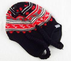 16fa605c049 Hats 57884  Nwt Spyder Boy S One Size Ear Flap Beanie Hat Black Red Gray  100% Wool -  BUY IT NOW ONLY   34.99 on eBay!