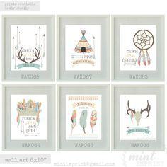 Teepee Print / Find Adventure Tribal Nursery / by MintImprint