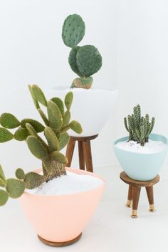 You can totally make these quirky planters yourself, even without woodworking experience. They're the perfect accent piece for an unloved corner or empty wall. Click through for the directions, and for more fun planters to spruce up your home!