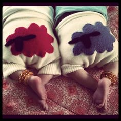 cute baby bums with cloth diaper sheeps