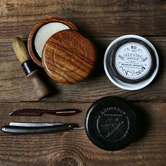 A timeless, natural, handmade wooden shave soap bowl with lid. A must for any wet-shaver who uses shaving soap! Limited Edition Handcrafted from sheesham wood (Indian Rosewood) Brooklyn Grooming logo