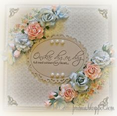 shabby card with papers from Pion Design.