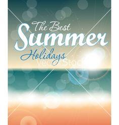 Summer holidays background vector by olegganko on VectorStock®