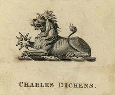 Bookplate of Charles Dickens