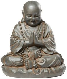 Alfresco Home Seated Buddha Statuary, Black Rust by Alfresco Home. $149.00. Grace any garden with charm and reverence. Combination of fiberglass and stone fibers creates a fine texture finish. Finished in rich pantina color. Made of durable fiberstone blend. Dimensions: 20 l by 20 w by 21 h. Alfresco Home is a wholesale designer of a fresh new line of original interior and exterior home and garden accents. The Alfresco Lite Devotional Statuary Collection is made of a d...