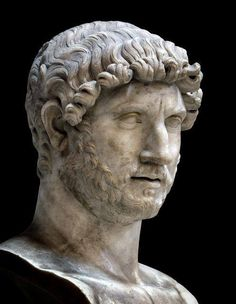 Roman marble bust of the Emperor Hadrian