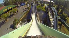 We Are On A Log Flume - Wasalandia Water Ride POV Finland