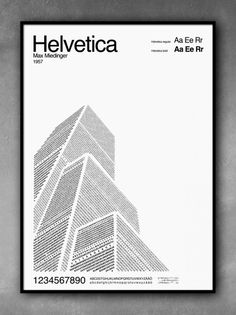 Helvetica poster melding history, architecture and type
