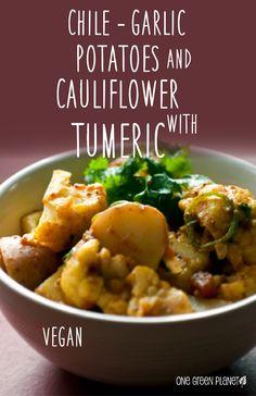 Garlic, potato and cauliflower chile