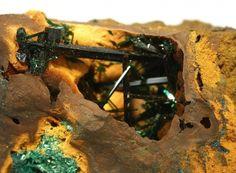 Atacamite (gem crystals) from New Cornwall Mine, Kadina, Yorke Peninsula, South Australia, Australia