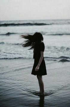 Imagen de girl, sea, and hair