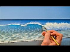 How To Paint Tropical Water - Paint Recipes with Mark Waller Beach Mural, Beach Art, Acrylic Painting Techniques, Painting Videos, Painting Tips, How To Start Painting, Pour Painting, Artist Painting, Ocean Scenes