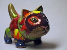 Little cat - porcelain sculpture - by Ukrainian artists Anya Stasenko and Slava Leontyev Small Figurines, Clay Tiles, Collectible Figurines, Beautiful Cats, Sculpture Art, Sculpture Ideas, Animal Sculptures, Ceramic Pottery, Cat Art