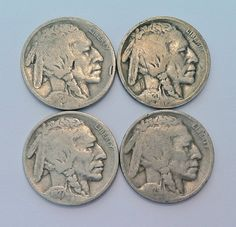 (Lot of 4) Valuable antique coins Indian head  nickel . Starting at $5 on Tophatter.com!