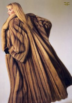 long sable fur coat  I want a badass fur like this