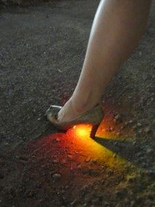 simple led under high heels - nice effect!