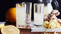 Inkiväärishotti   Yhteishyvä Healthy Drinks, Pint Glass, Health Tips, Smoothies, Drinking, Goodies, Food And Drink, Health Fitness, Tableware