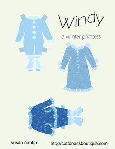 WINDY | Princess Paper Doll  | Windy is a winter princess who wants to go out and play in the snow and ice all day. She is happiest making snowmen and ice castles. What else could she do with all the January snow? Draw her an ice castle.  2 of 2