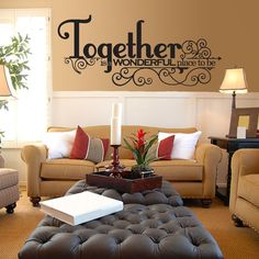 This is awesome. Wall decal for family room