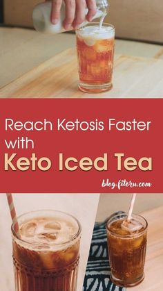 Get to Ketosis with this Keto Iced Tea (BHB Style) - Fitoru Recipes - Low Carb Drinks - Keto Smoothie Recipes, Ketogenic Recipes, Low Carb Recipes, Cheese Recipes, Diet Recipes, Vegan Recipes, Low Carb Meal, Keto Coffee Recipe, Keto Shakes
