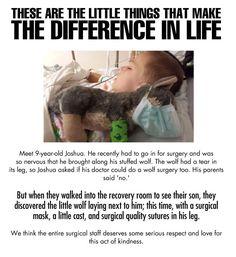 entire medical team deserves some serious respect… Faith In Humanity Restored – 33 PicsFaith In Humanity Restored – 33 Pics Jack Kerouac, I Smile, Make Me Smile, Just Keep Walking, Robert Downey Jr., Believe, Gives Me Hope, Faith In Humanity Restored, Emotion
