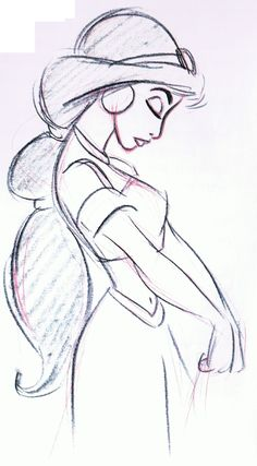 Mark Henn's Jasmine - notice how he draws profile shoulders
